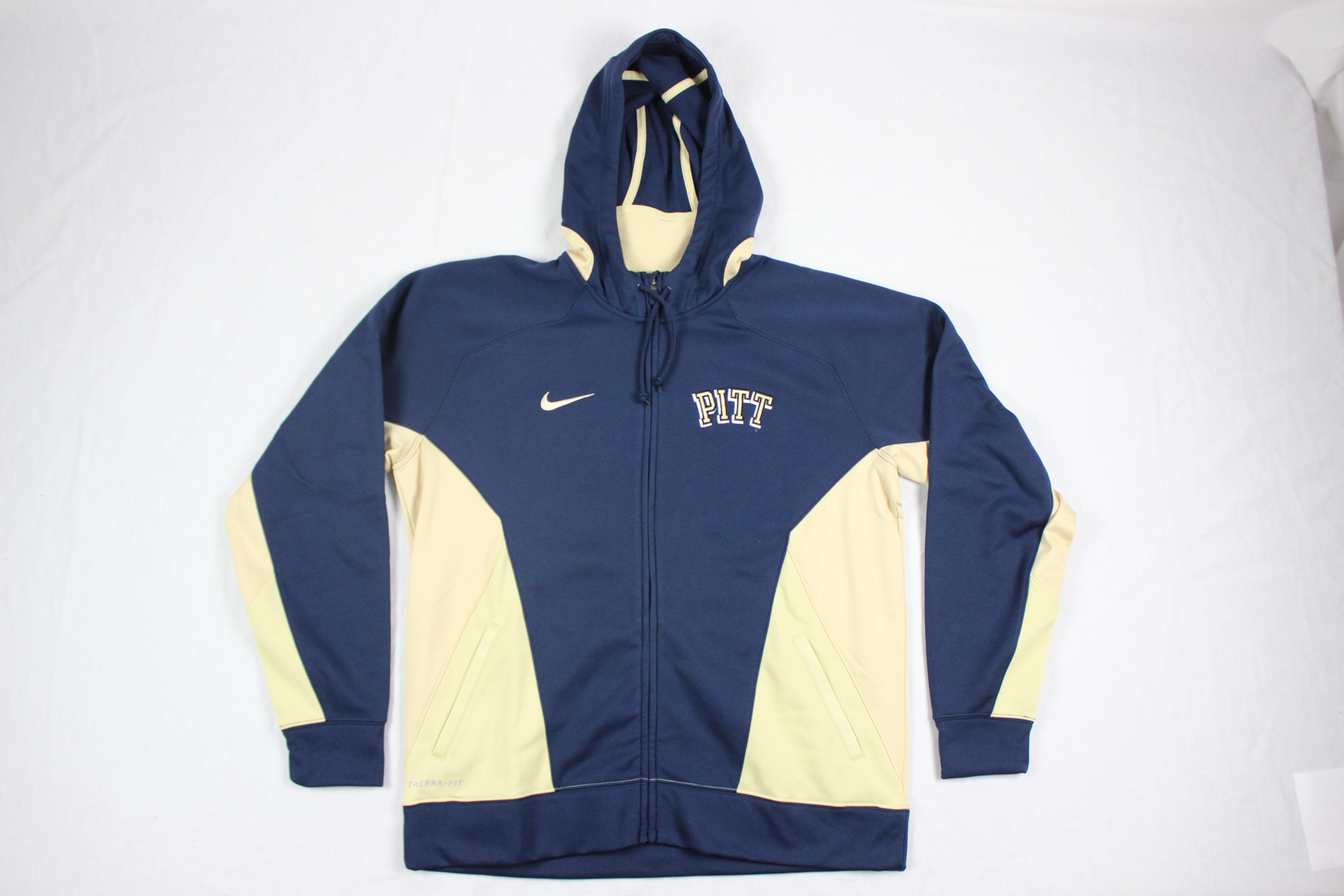 aa236d0d6383 Details about NEW Nike Pittsburgh Panthers - Blue Gold Therma-Fit Jacket  (XL)