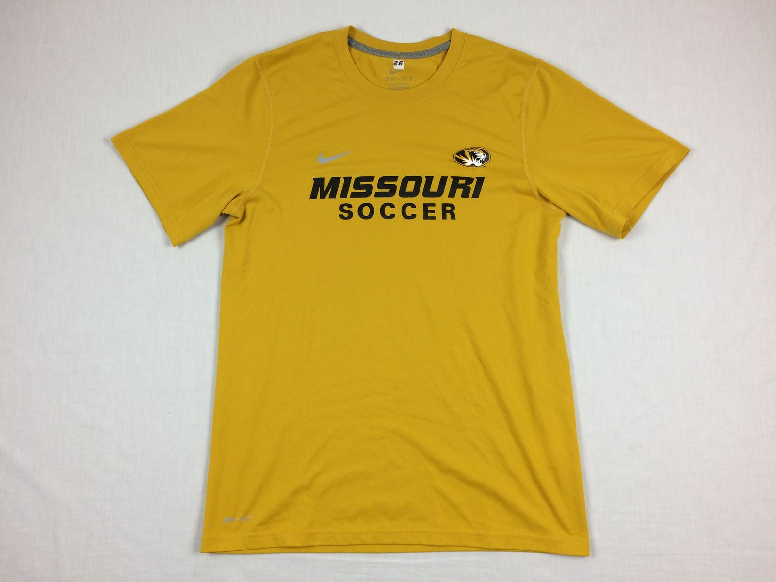 6621620d0c45 Details about Nike Missouri Tigers - Yellow Dri-Fit Short Sleeve Shirt (M)  - Used