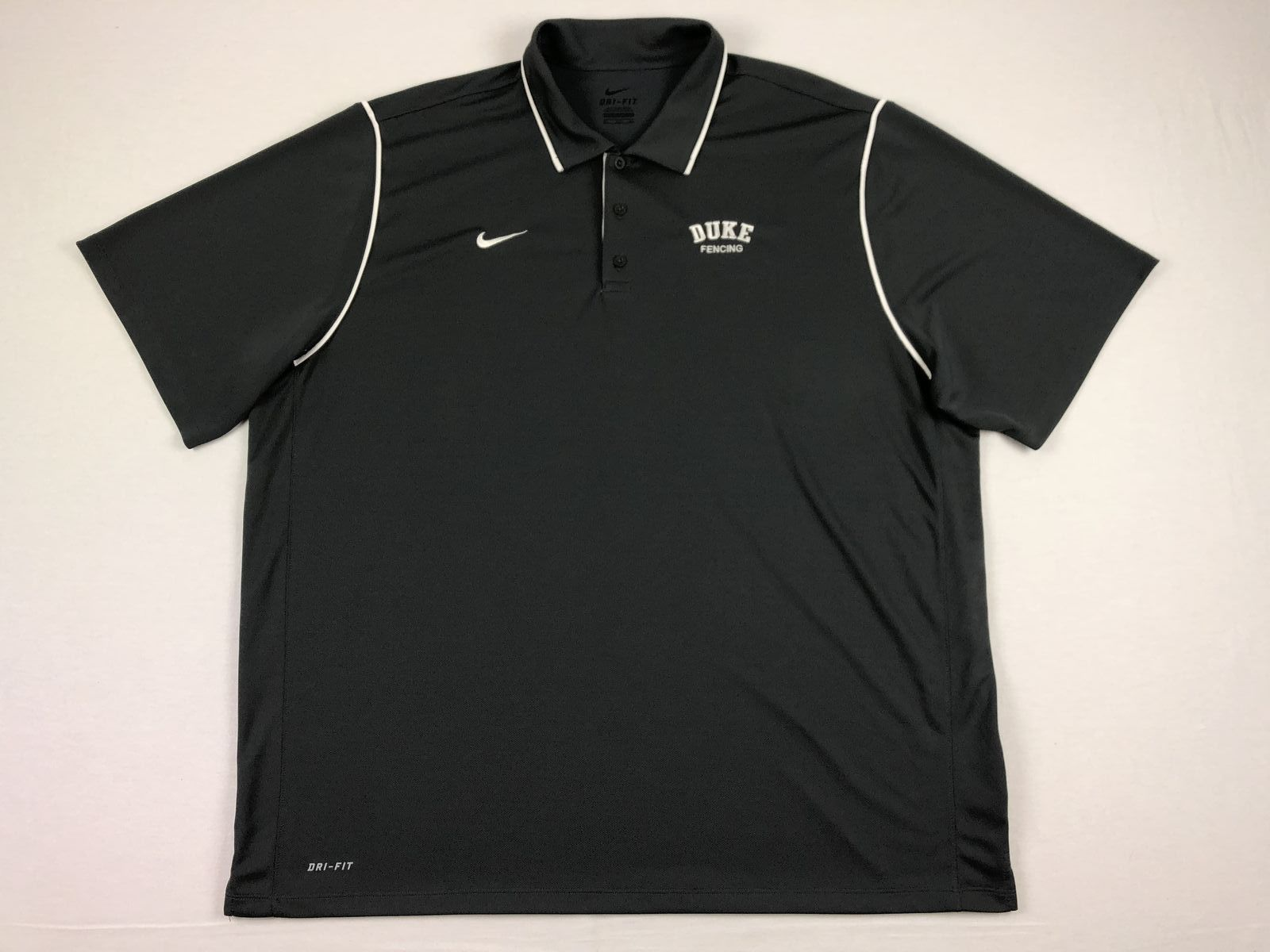 01aaa790 Details about Nike Duke Blue Devils - Gray Poly Polo Shirt (3XL) - Used