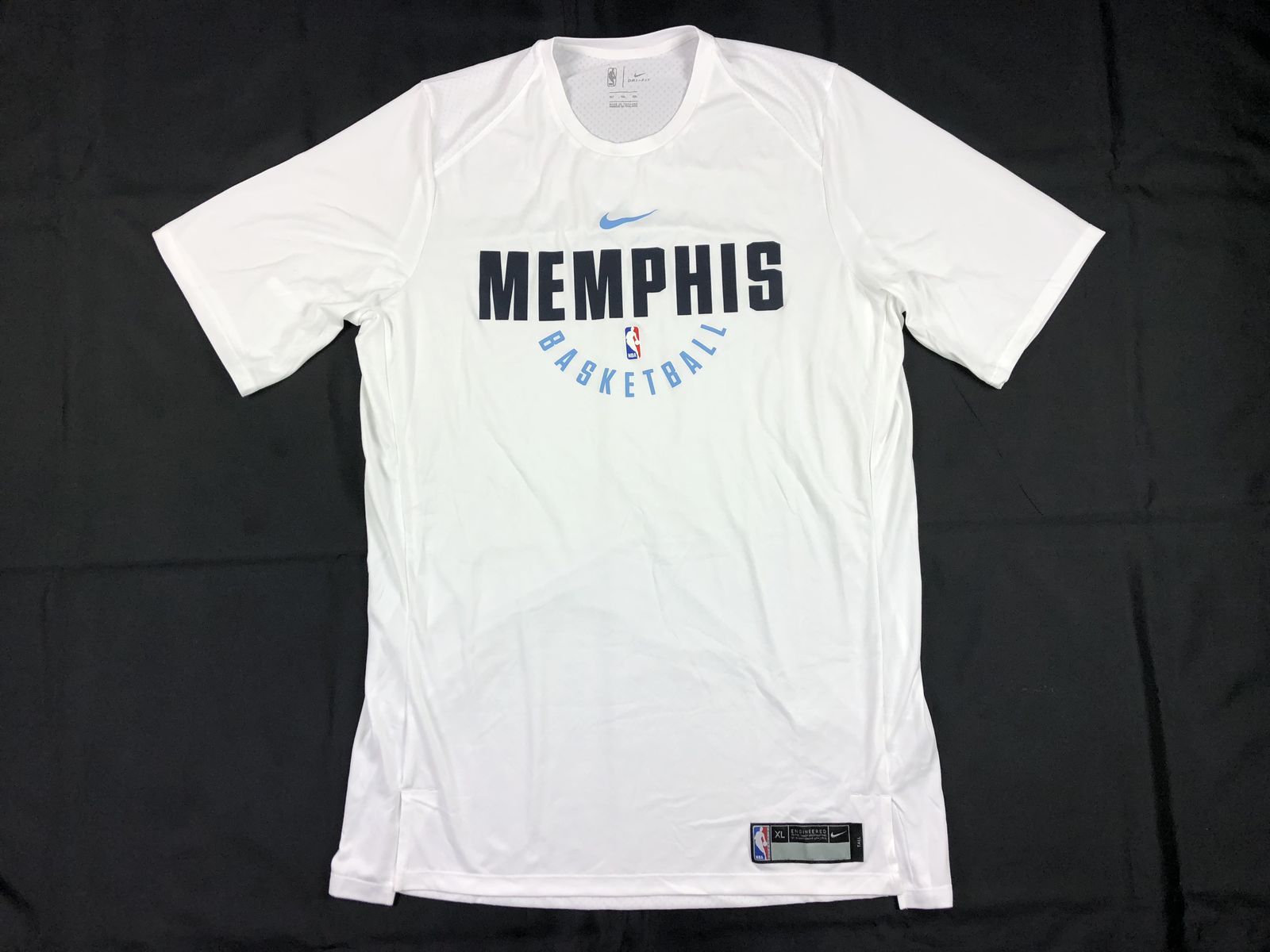 NEW Nike Memphis Grizzlies - White Poly Short Sleeve Shirt