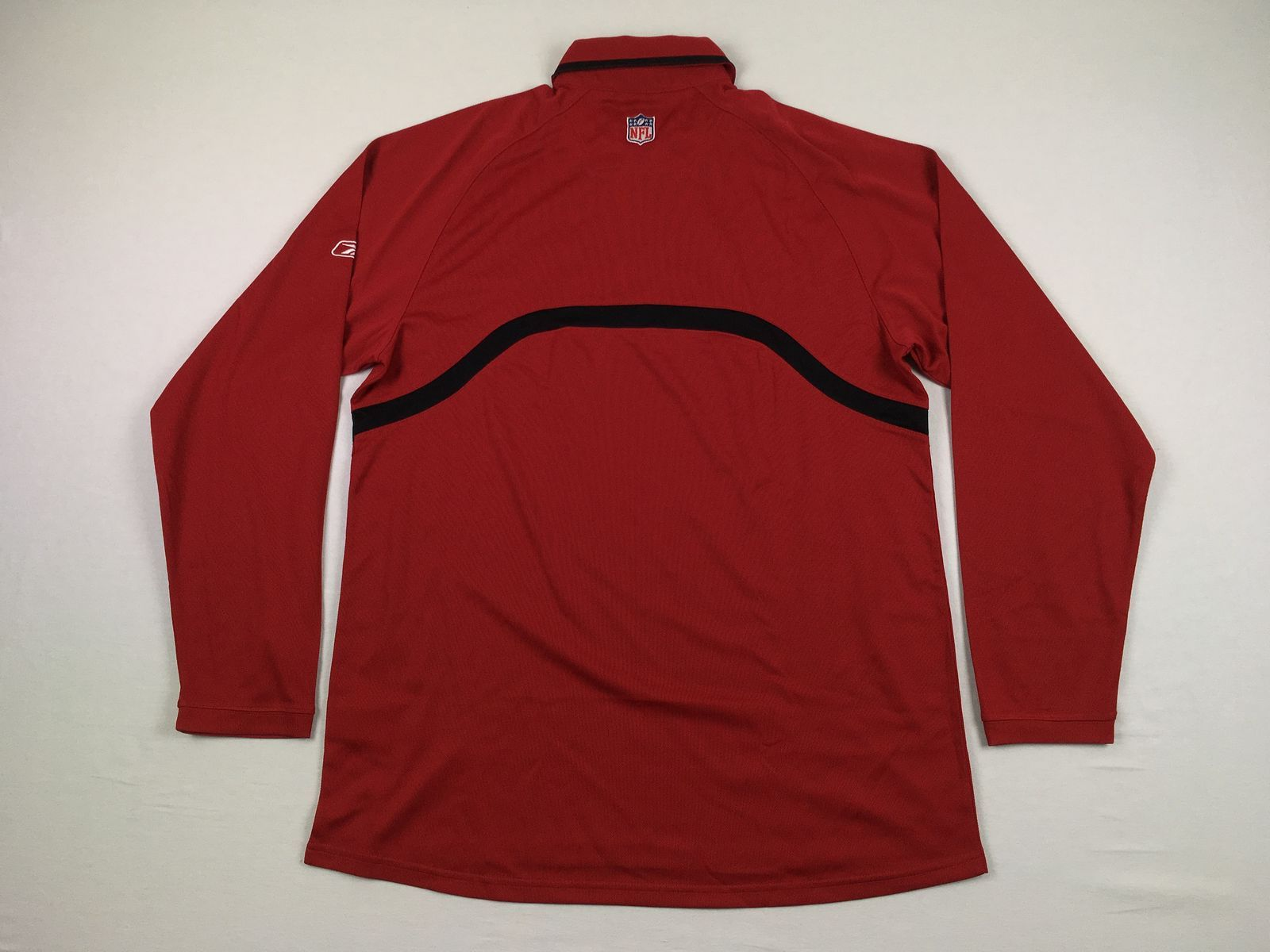 Details about NEW Reebok San Francisco 49ers - Red Long Sleeve Polo Shirt  (M) 246550078ec