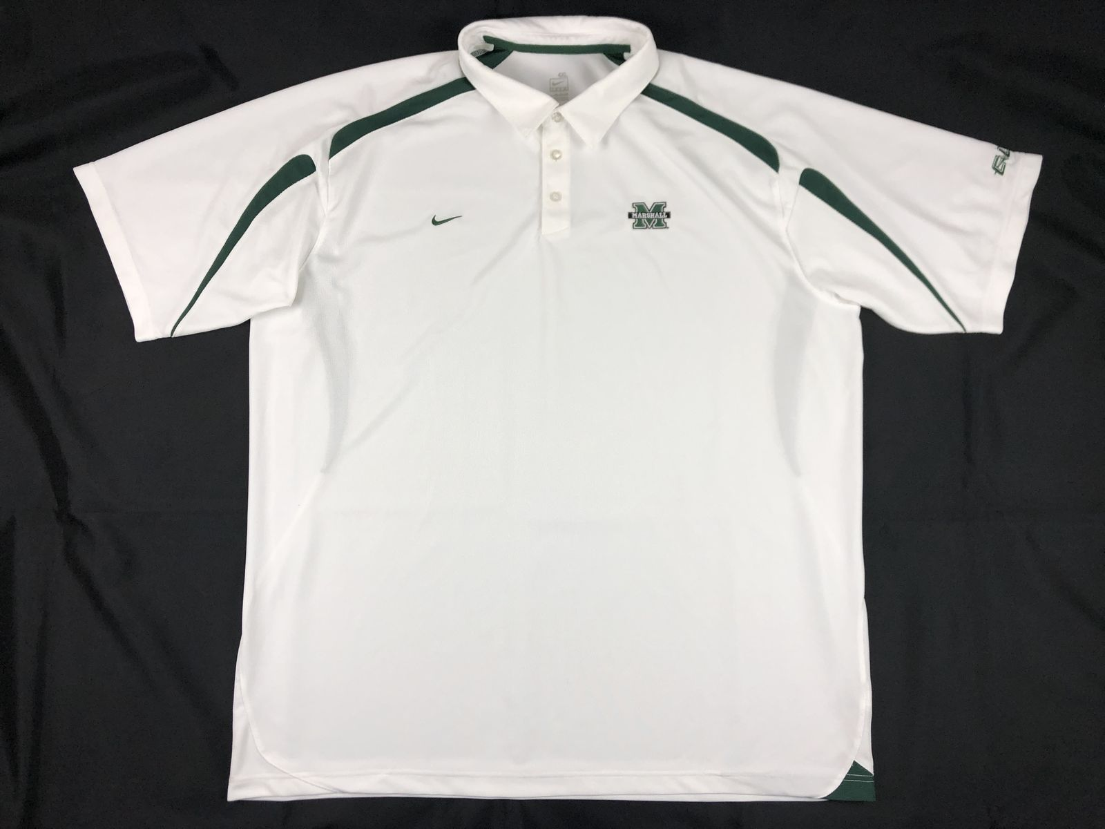 7f0e5404 Details about Nike Marshall Thundering Herd - White Poly Polo Shirt (4XL) -  Used