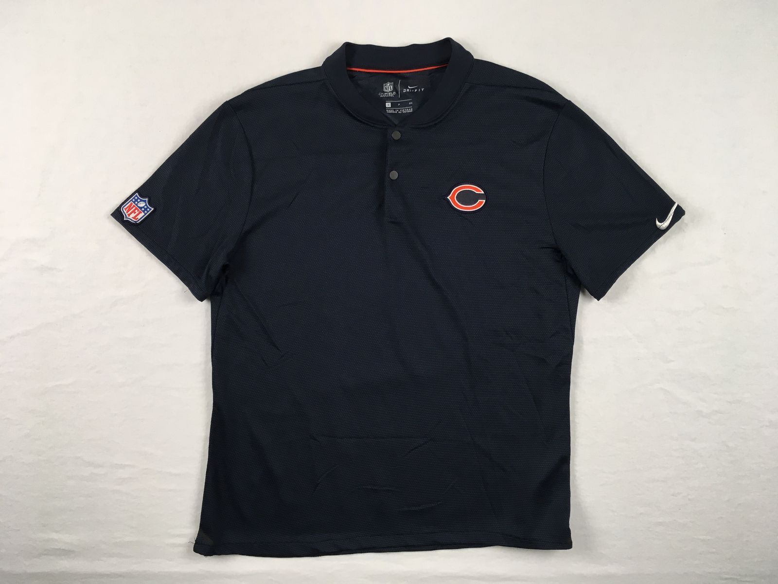 Nike-Chicago-Bears-Navy-Poly-Polo-Shirt-Multiple-Sizes-Used