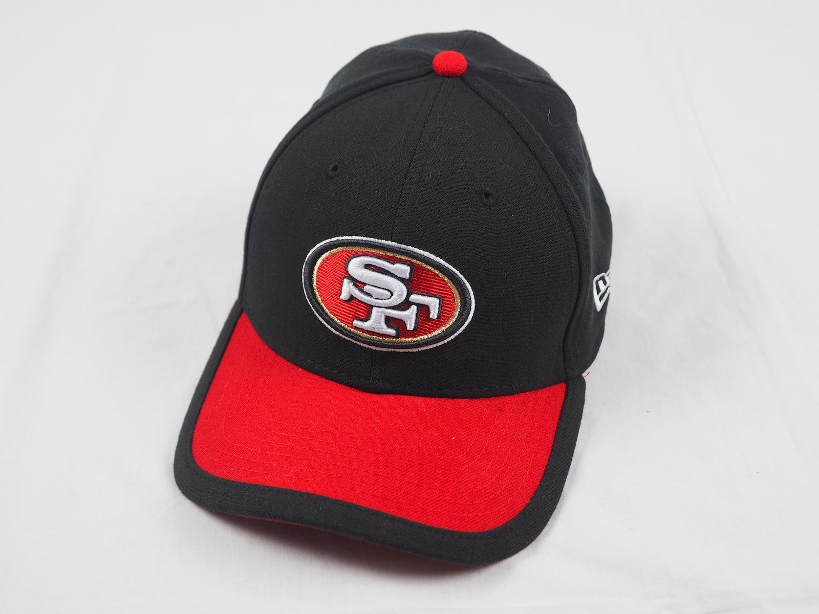f65654aa29b35 Details about New Era San Francisco 49ers - Black Red Fitted Hat (Multiple  Sizes) - Used