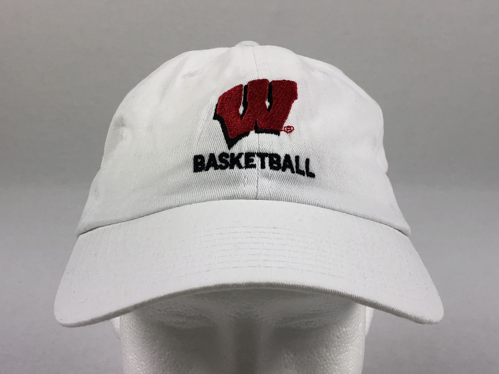 separation shoes 1bd2e 1a833 Details about NEW HeadToToe Wisconsin Badgers - White Adjustable Hat (OSFM)