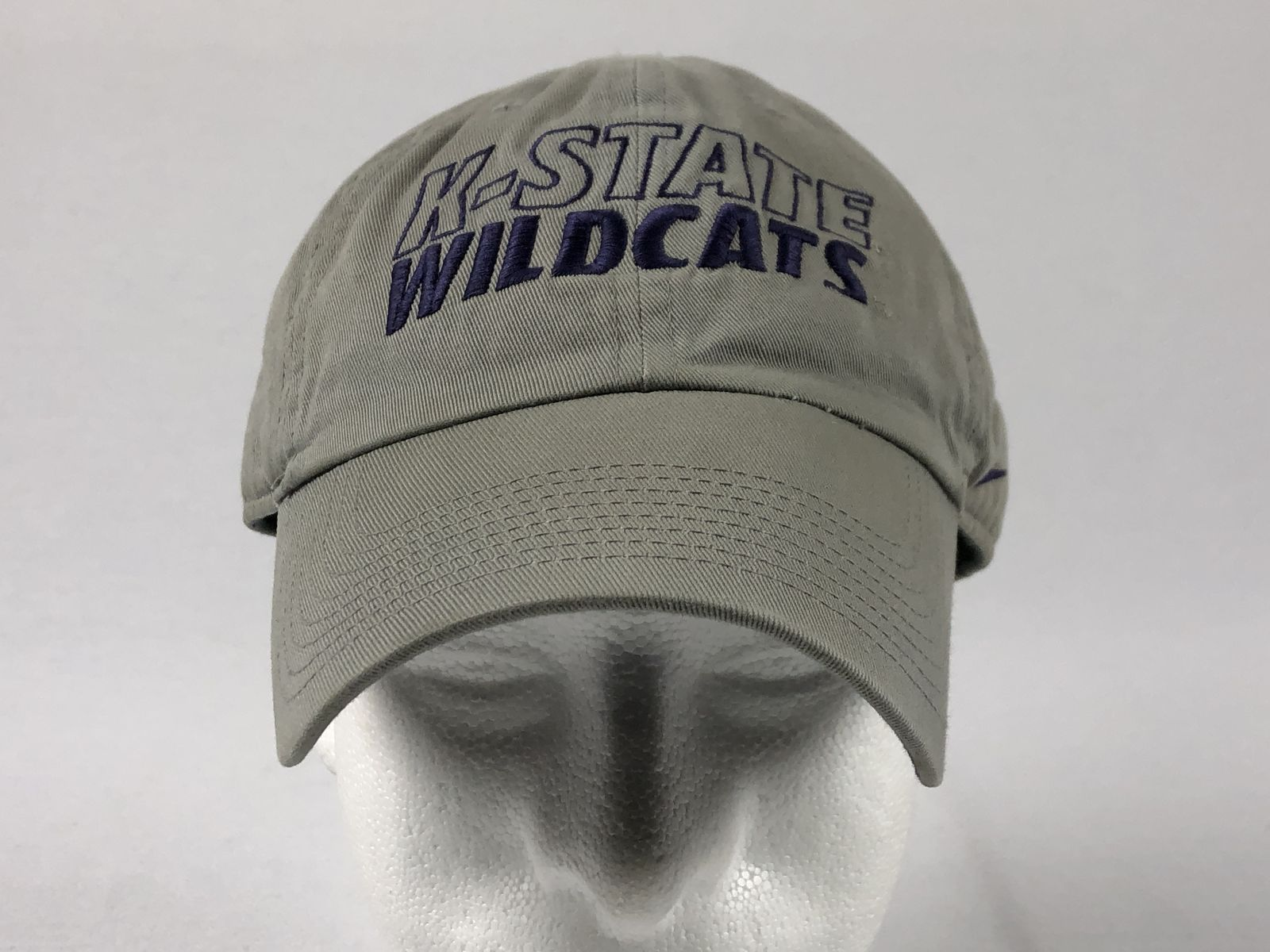 buy popular 80aa8 6dcec Details about Nike Kansas State Wildcats - Gray Adjustable Hat (OSFM) - Used