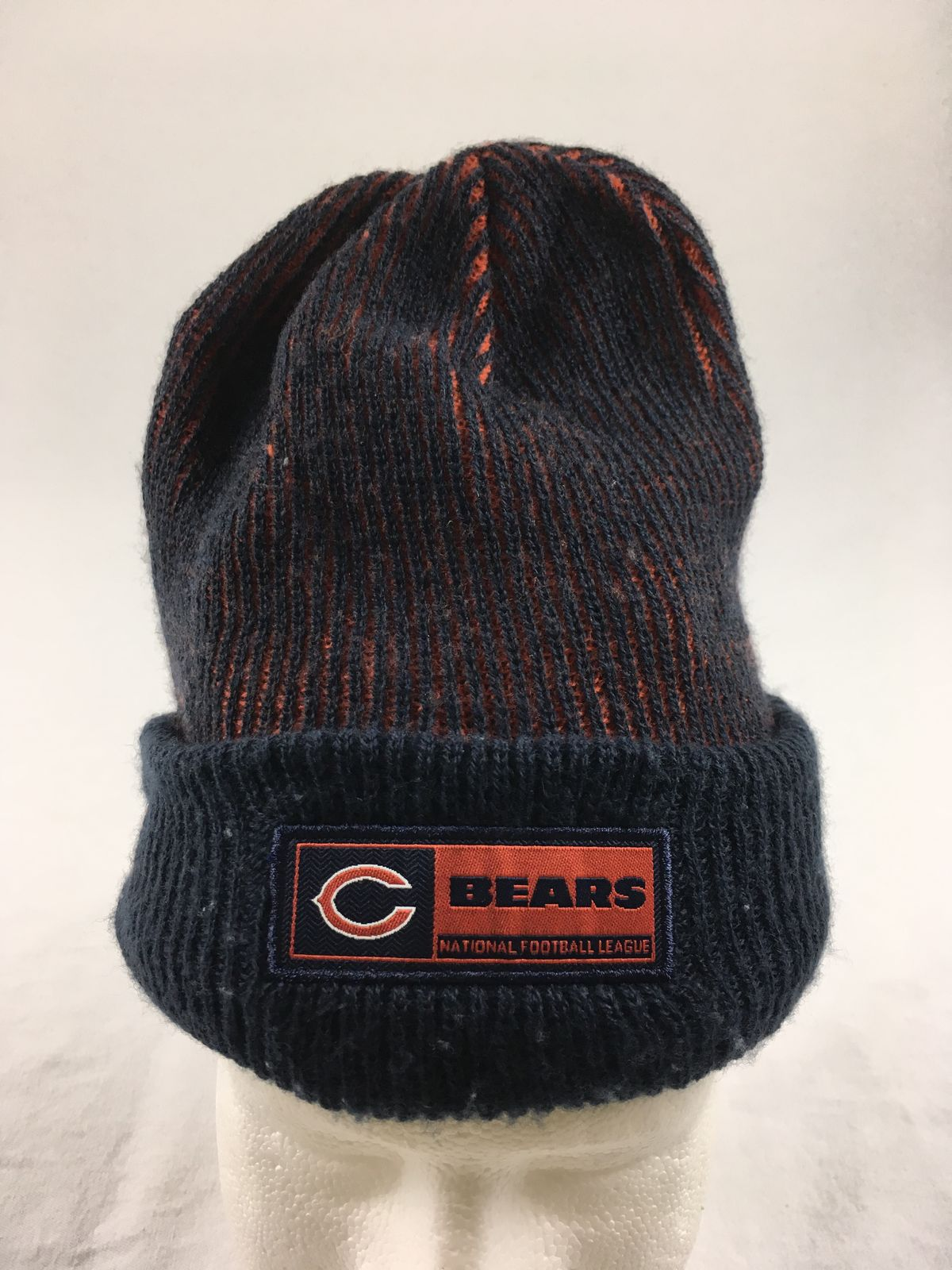 official photos 39f1c 59e08 Details about New Era Chicago Bears - Navy Winter Hat Hat (L XL) - Used