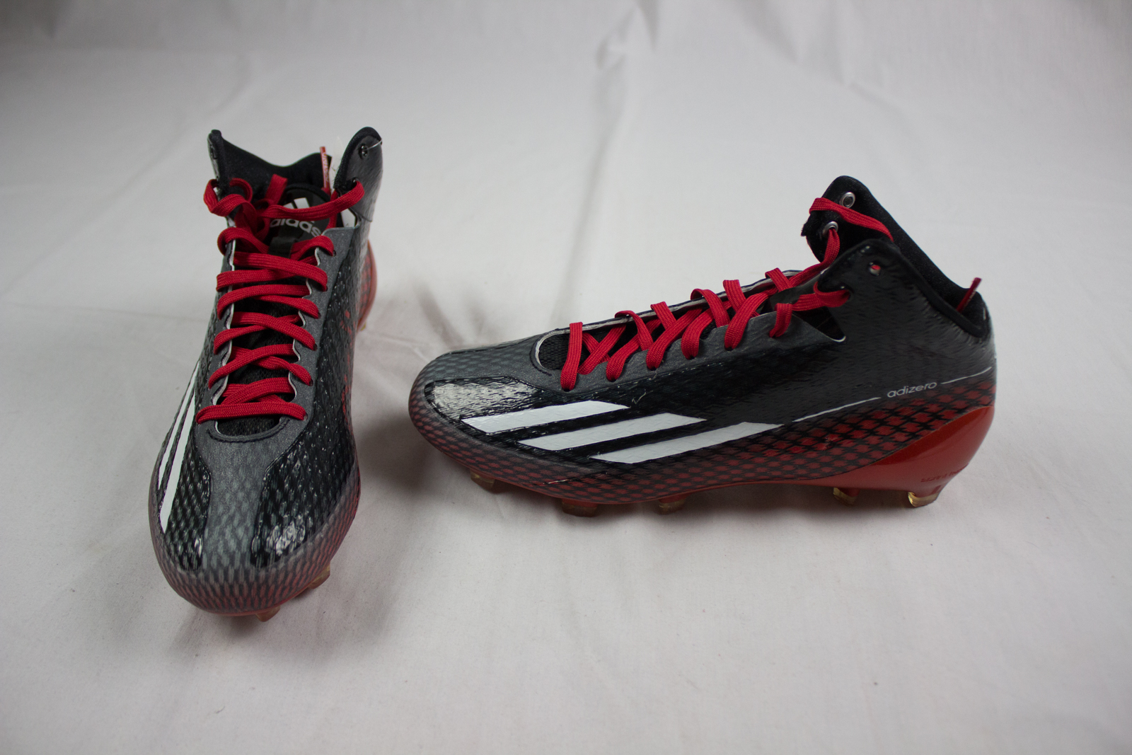 best sneakers 54a5e 8362f Details about NEW adidas adizero 5-star 3.0 Mid - BlackRed Cleats (Mens  Multiple Sizes)