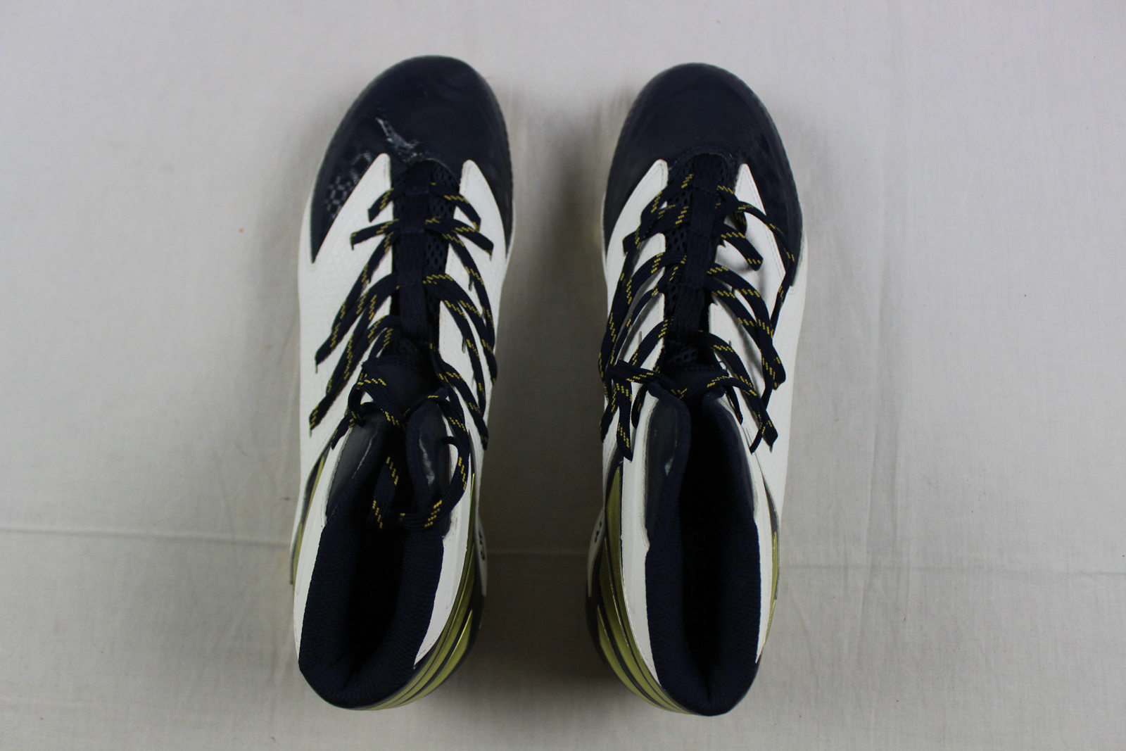 New Adidas Quickframe Ironskin Navy Gold White Cleats