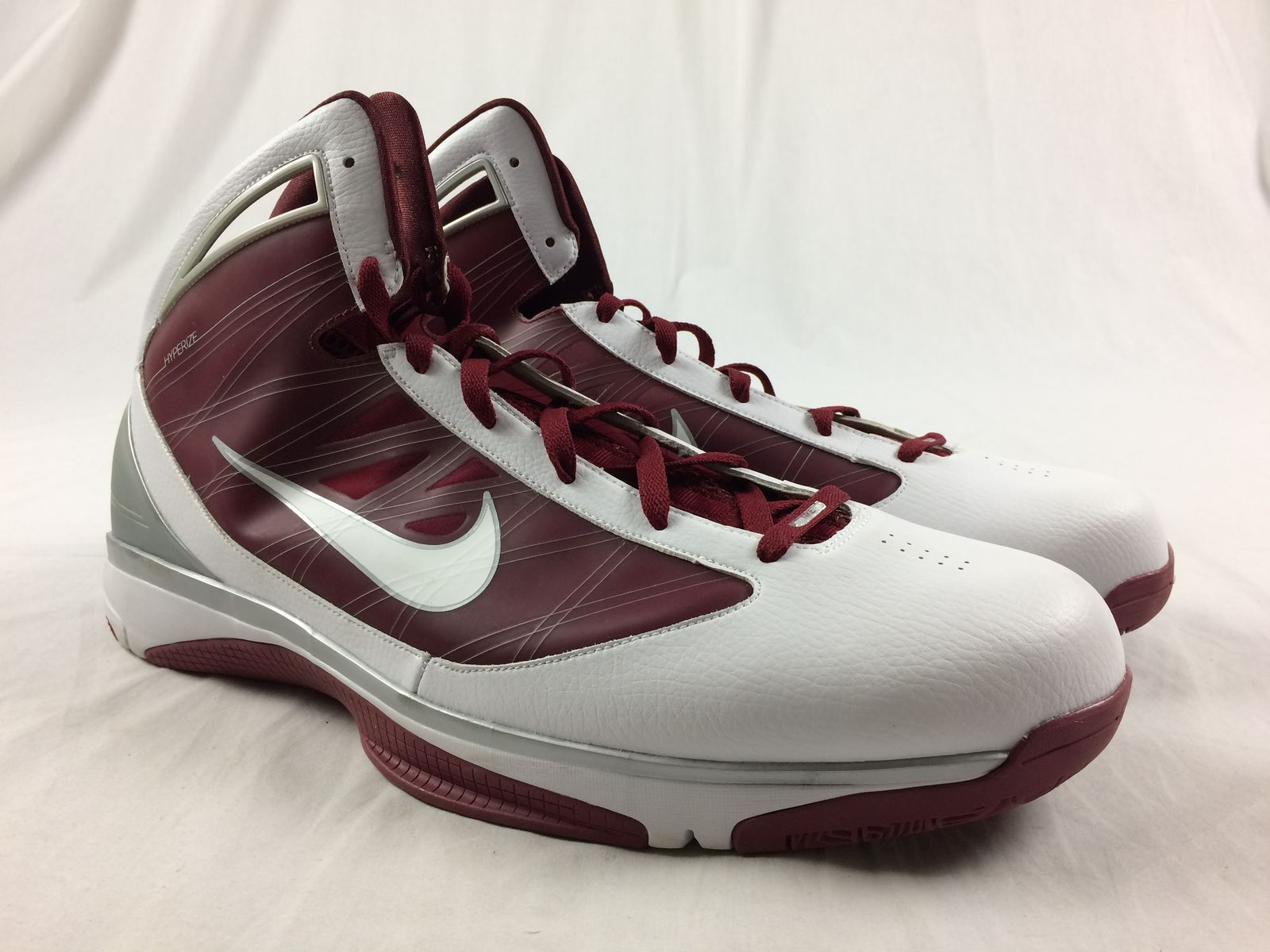 f147e863370d96 Details about NEW Nike Hyperize TB - Red White Basketball Shoes (Men s 19).  Listed for charity
