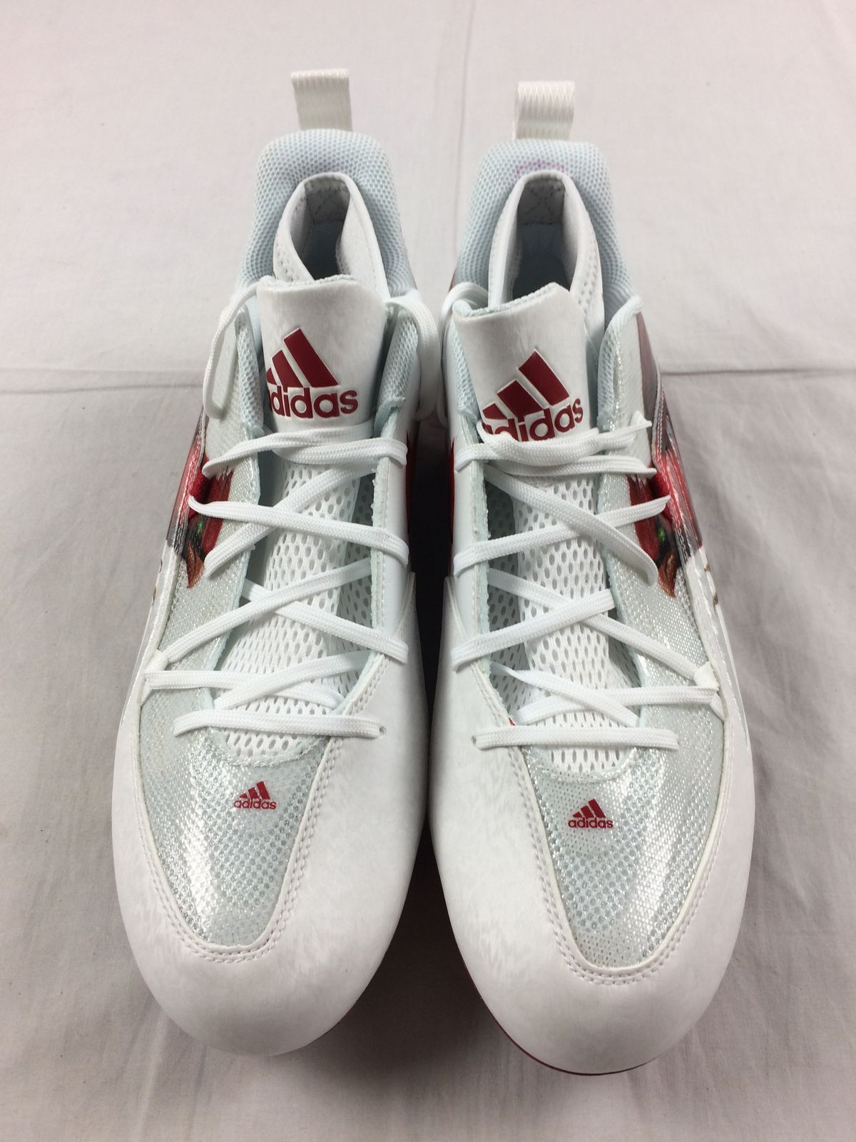 New Adidas Techfit Quickframe Low Red White Cleats Men