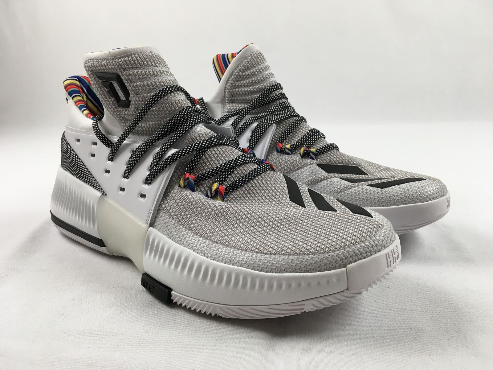 the best attitude 540f9 721bf NEW adidas D Lillard 3 BHM - White Basketball Shoes (Mens Multiple Sizes)