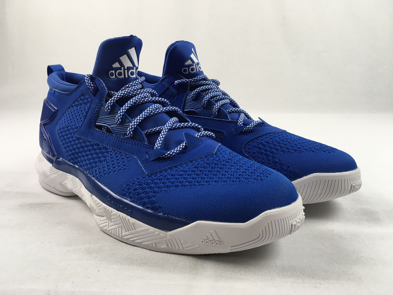 new product 609da eccba Details about NEW adidas D Lillard - Blue Basketball Shoes (Men s 13.5)