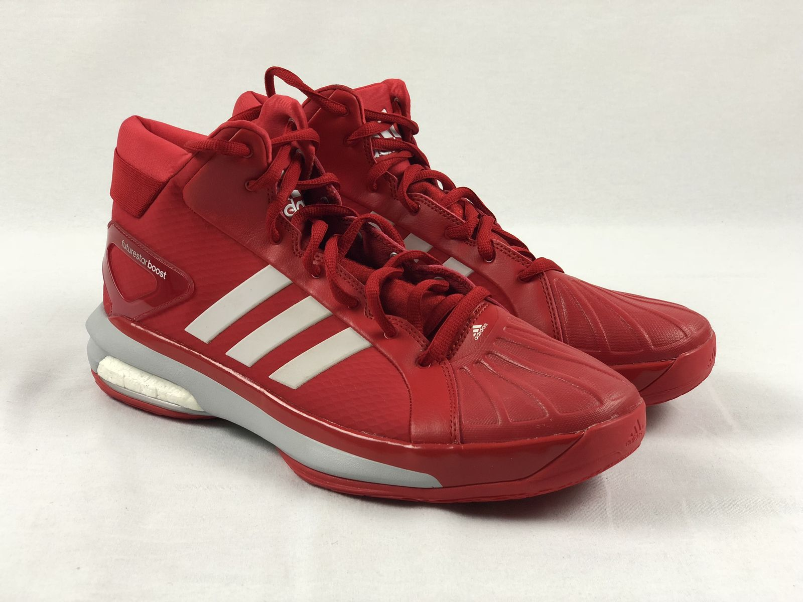 buy popular dc531 b3b3d Details about NEW adidas Future Star Boost - Red Basketball Shoes (Mens  14). Listed for charity