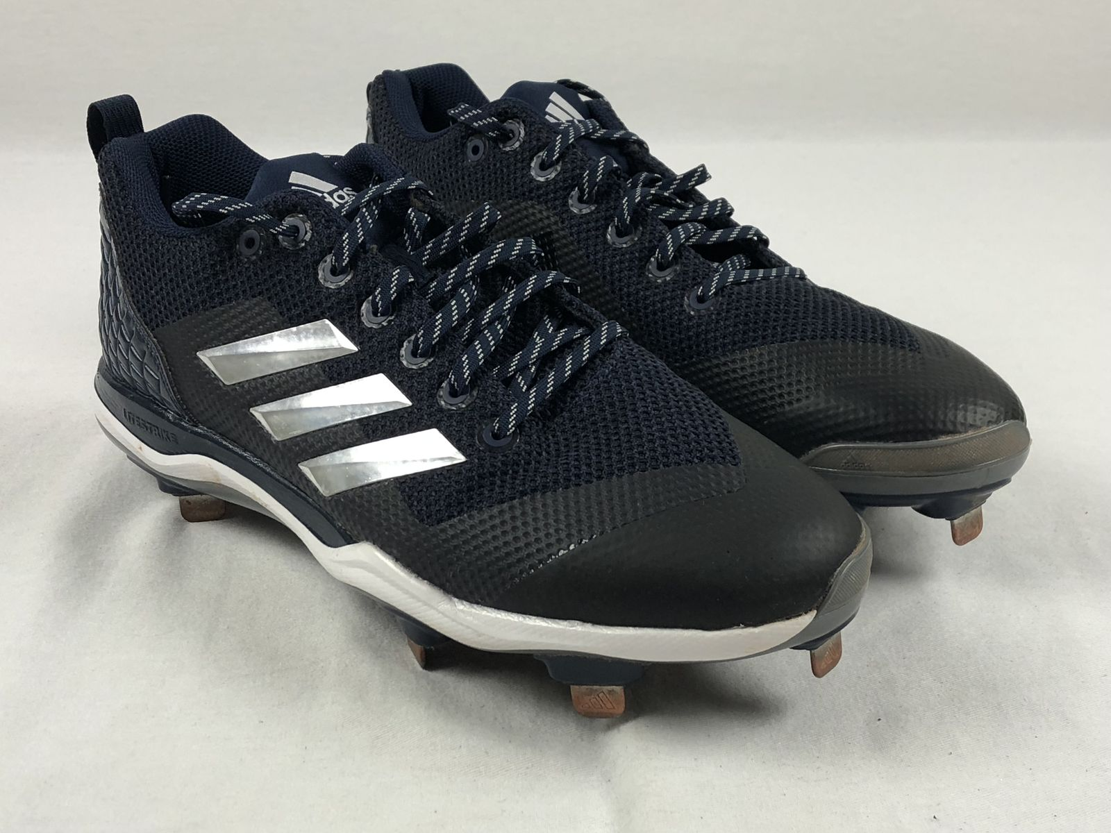 0dccec059b8 Details about adidas Poweralley 5 - Blue Cleats (Men s 12) - Used