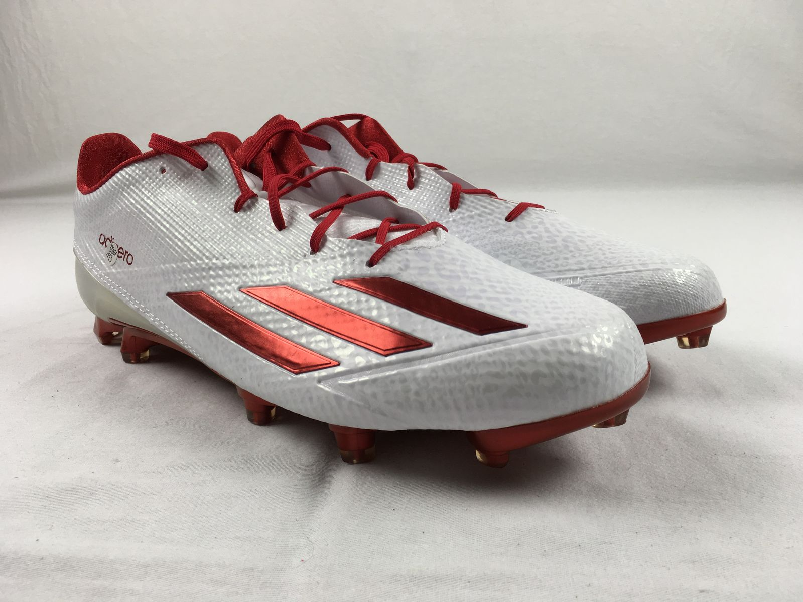 Details about NEW adidas Adizero 5- Star 5.0 - White Red Cleats (Men s  Multiple Sizes) b010eea73