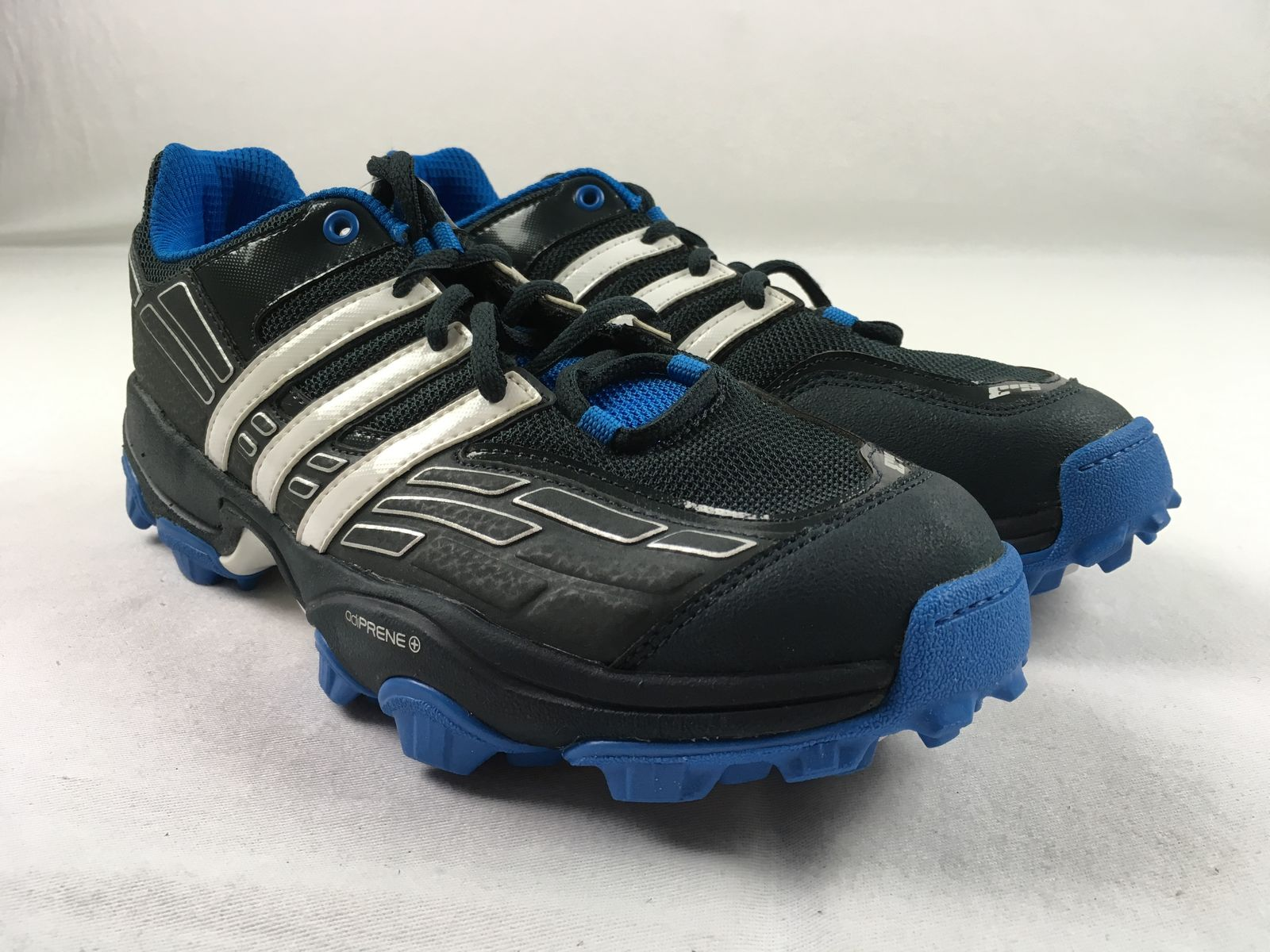 super popular bf8a0 fa6e8 Details about NEW adidas adistar Hockey S.3 - BlackBlue Cleats (Mens  Multiple Sizes). Listed for charity