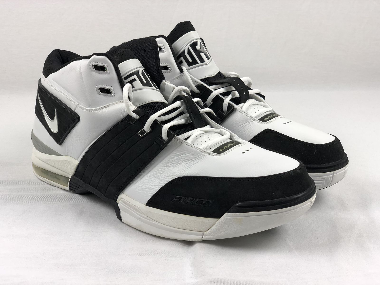 new concept a7a36 cbc4b ... NEW Nike Air Force Max - Black White Basketball Shoes (Men s 20) ...