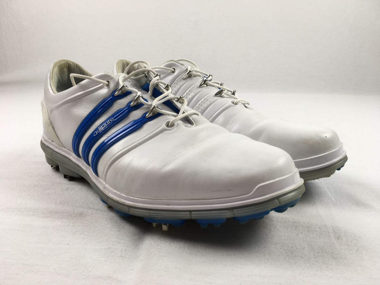 Details about adidas Pure 360 - White Blue Golf Shoes (Men s 11) - Used 0c0fb64e3