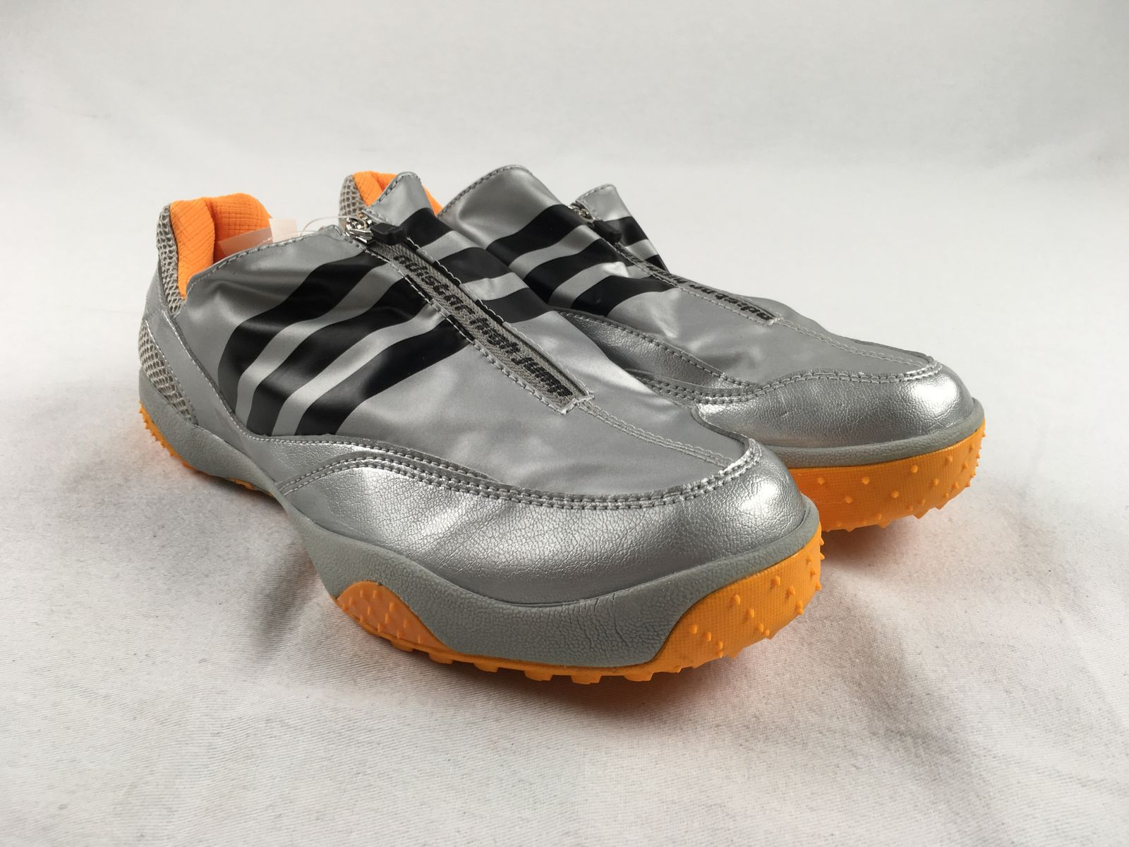 44138a266230 Details about NEW adidas adiStar High Jump - Silver Orange Cleats (Men s  Multiple Sizes)