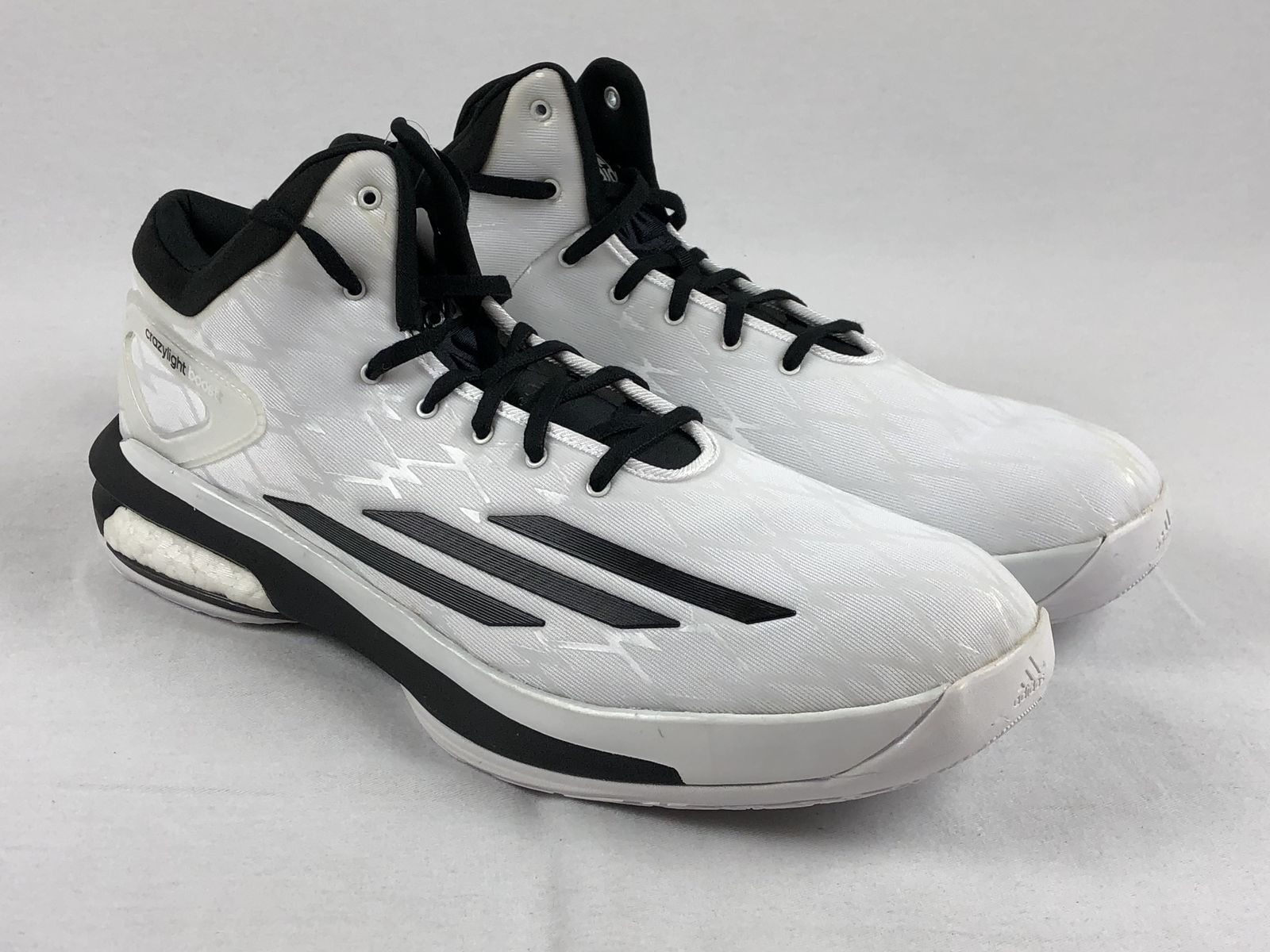new style ce1d3 256ea Details about NEW adidas Crazylight Boost - White Basketball Shoes (Mens  Multiple Sizes)
