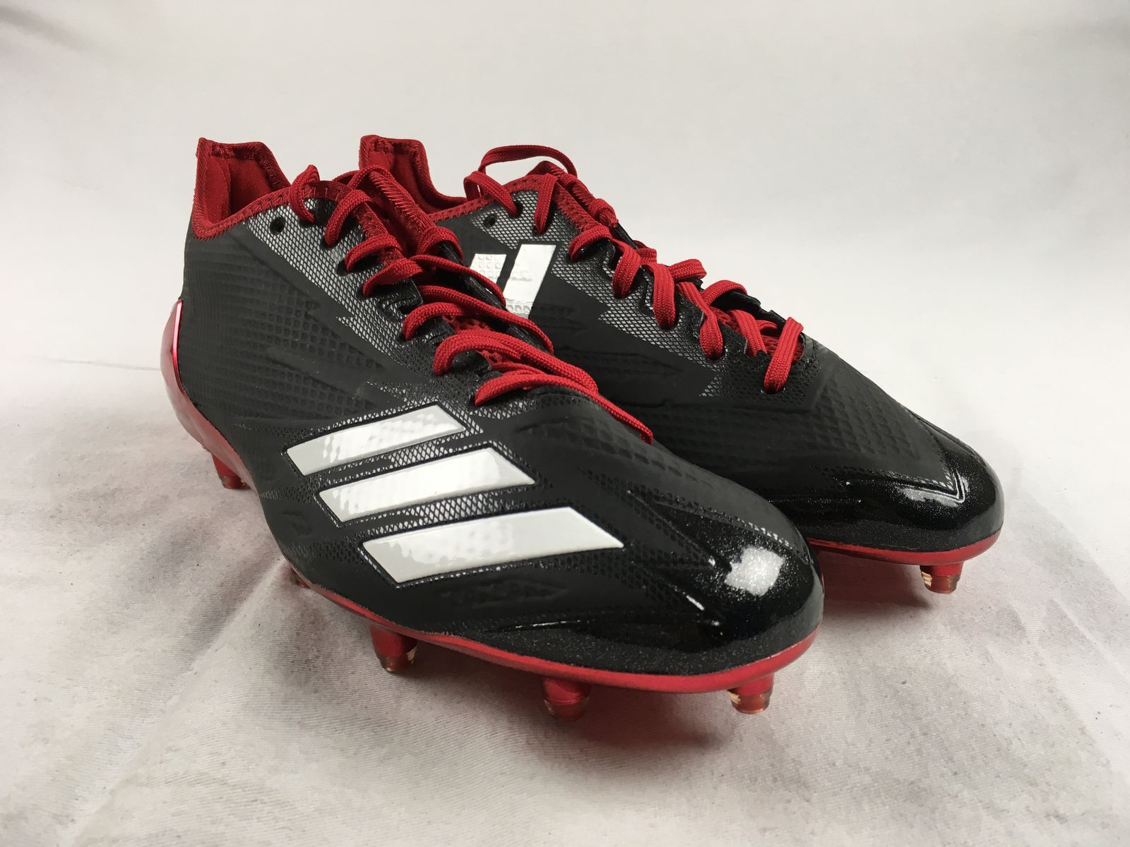 956106210 Details about NEW adidas adizero 5-Star 6.0 Low - Black Red Cleats (Men s  Multiple Sizes)