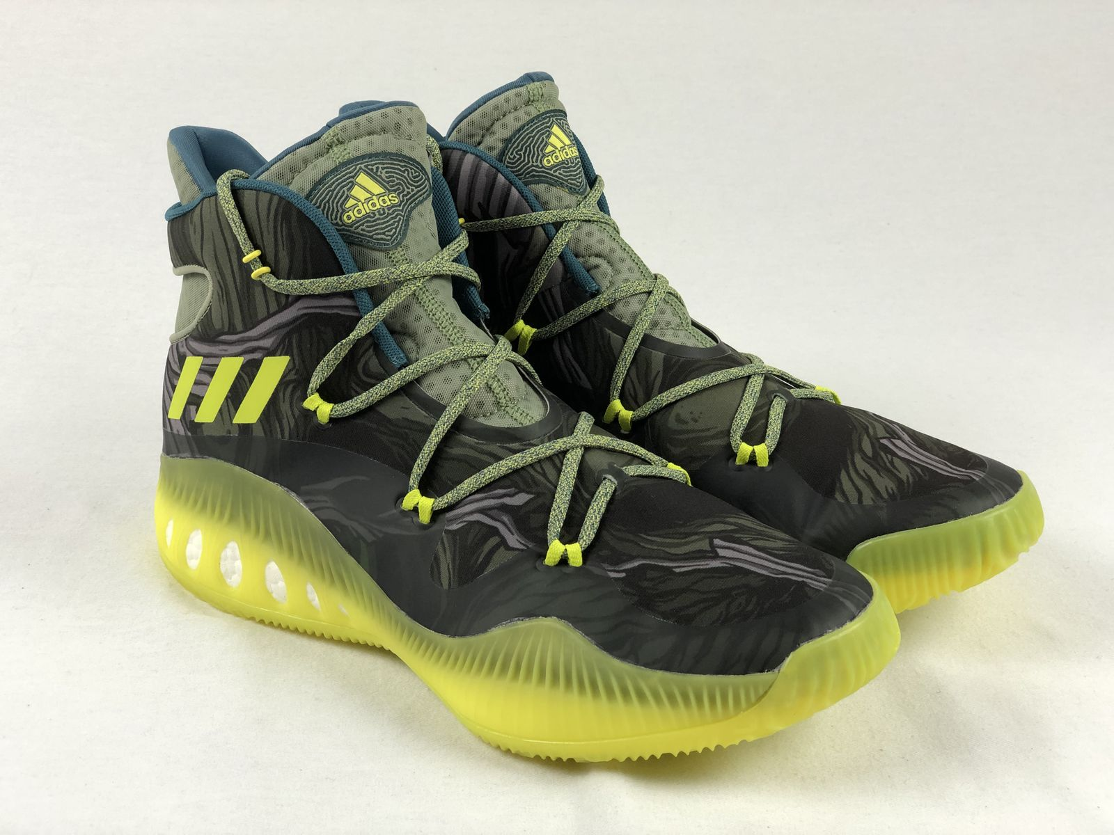 on sale f2684 acd1e Details about NEW adidas Crazy Explosive - Green Black Basketball Shoes ( Men s 13.5)