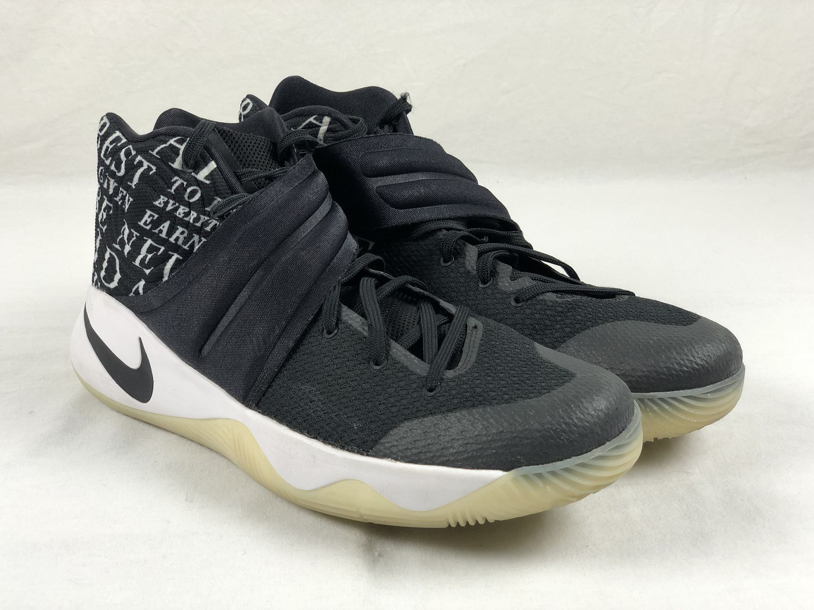 new style 8e338 64c5e Details about Nike Kyrie 2 ID - Black Basketball Shoes (Men s 15) - Used