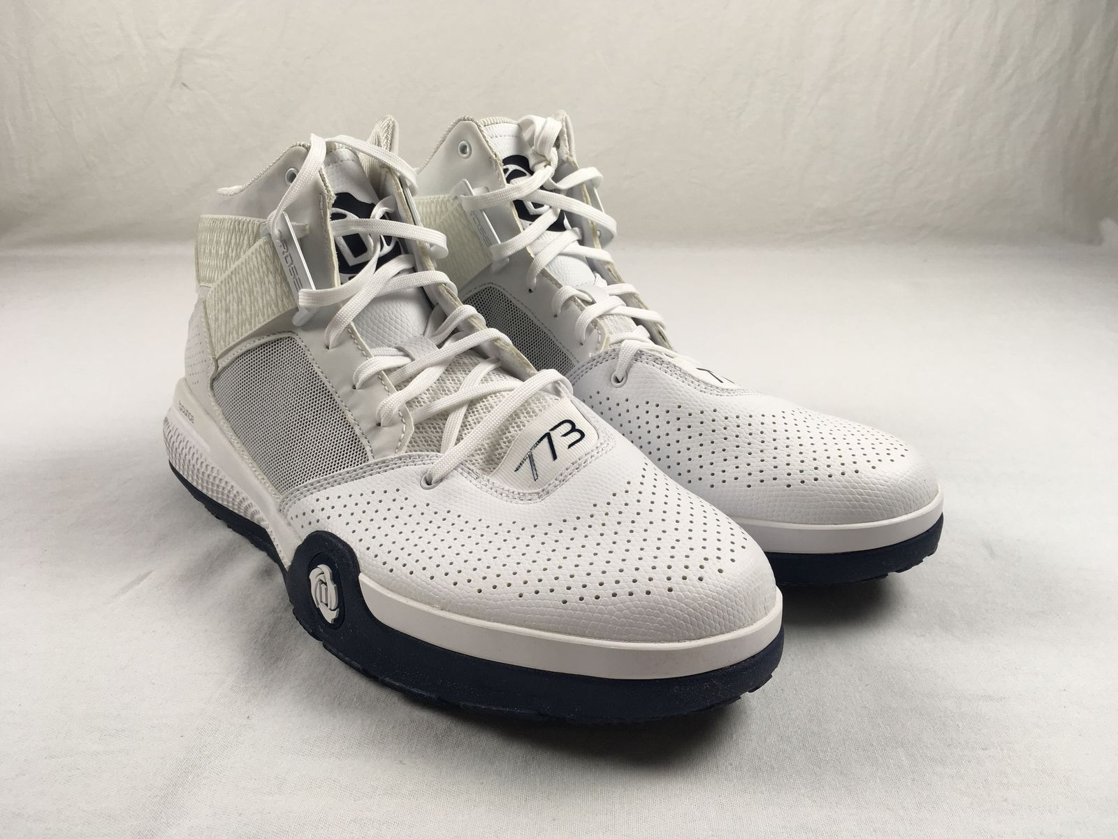 quality design 9ff00 ef3aa Details about NEW adidas D Rose 7 - White Basketball Shoes (Mens 15)