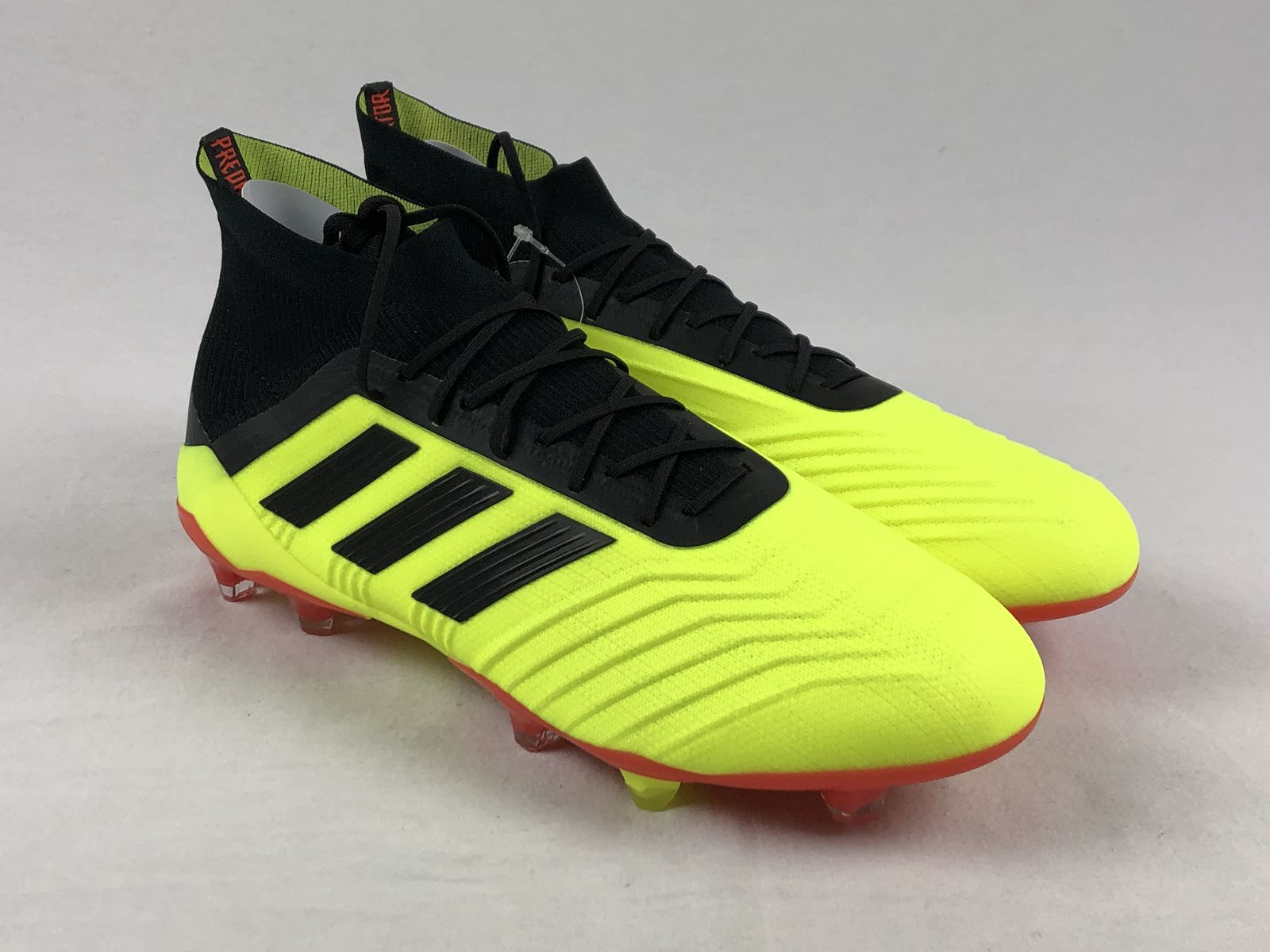 e83caccc8 Details about NEW adidas Predator 18.1 FG - Yellow Black Cleats (Men s  Multiple Sizes)
