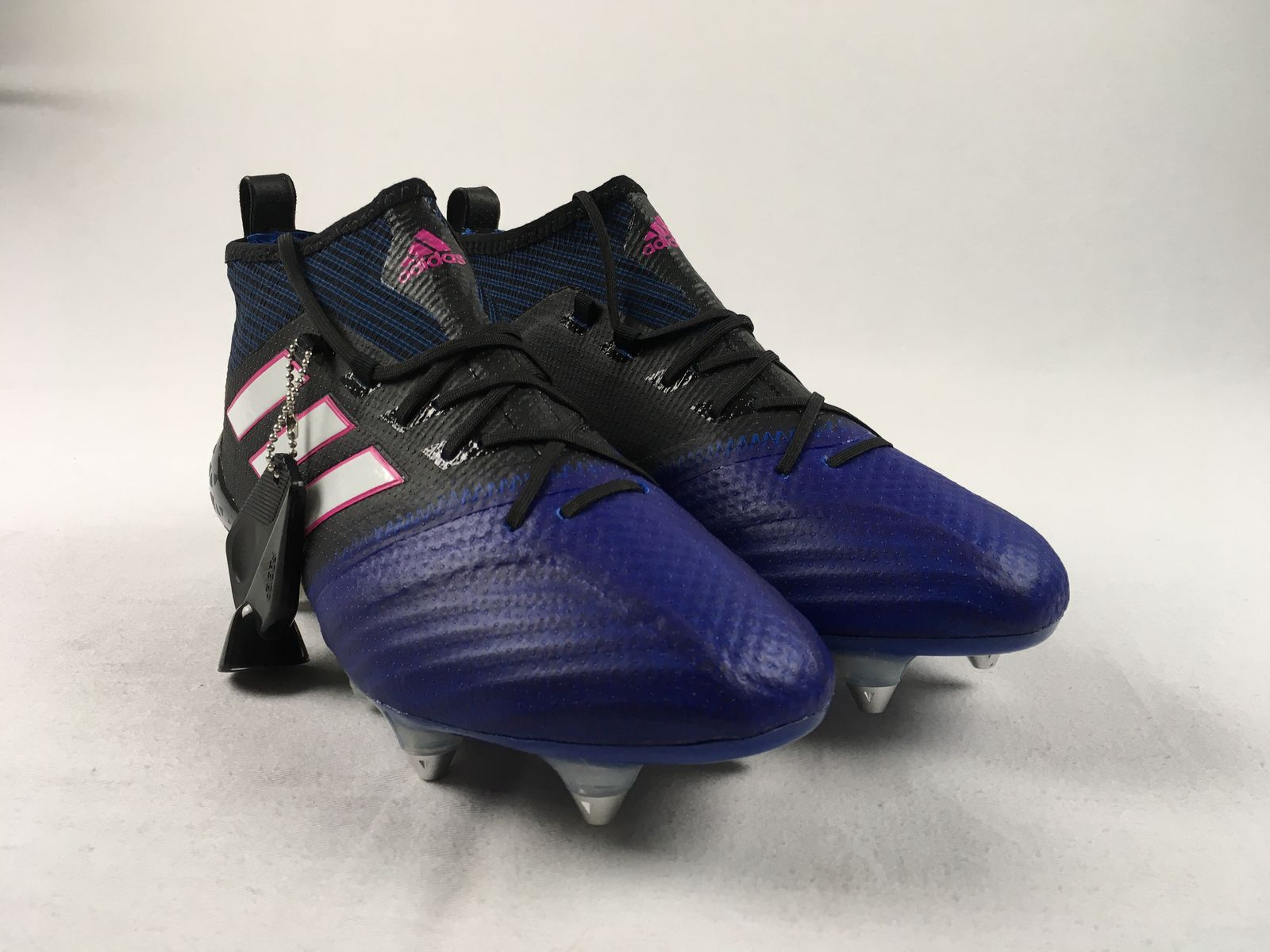 new arrival 19405 f1d37 Details about NEW adidas Ace 17.1 Primeknit SG - BlackBlue Cleats (Mens  Multiple Sizes)