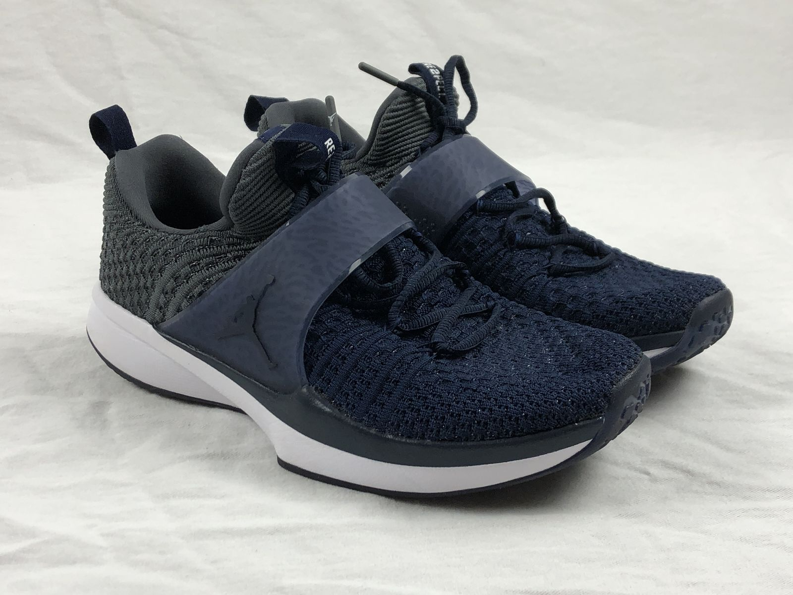4cf7d7034281f8 Details about Jordan Trainer 2 Flyknit - Blue Basketball Shoes (Men s 9.5)  - Used