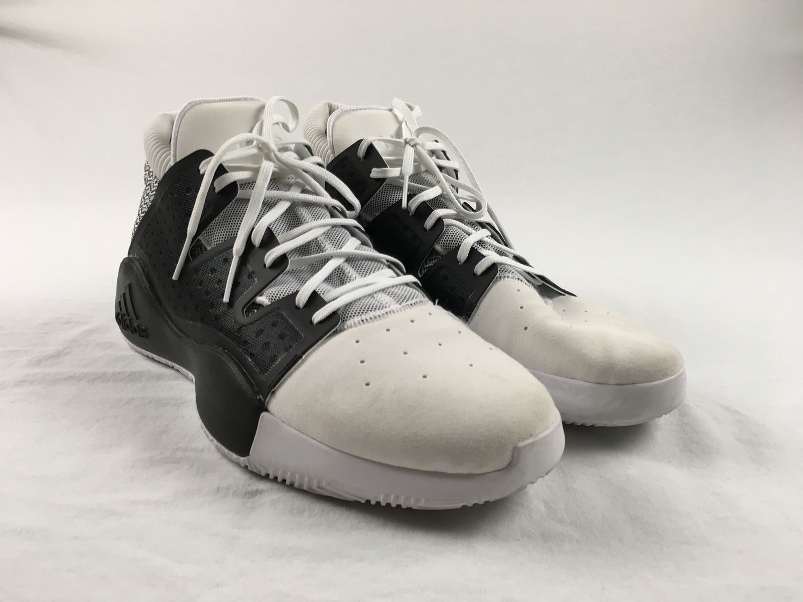 071aba8c4cd9 Details about adidas Pro Vision - Black White Basketball Shoes (Men s 13) -  Used