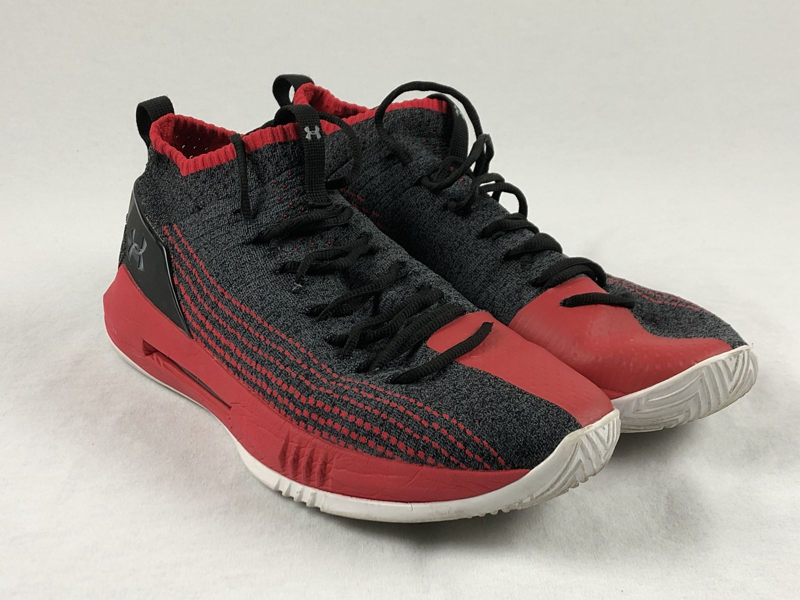 a20db431eab Details about Under Armour Heat Seeker - Red Gray Basketball Shoes (Men s  14) - Used