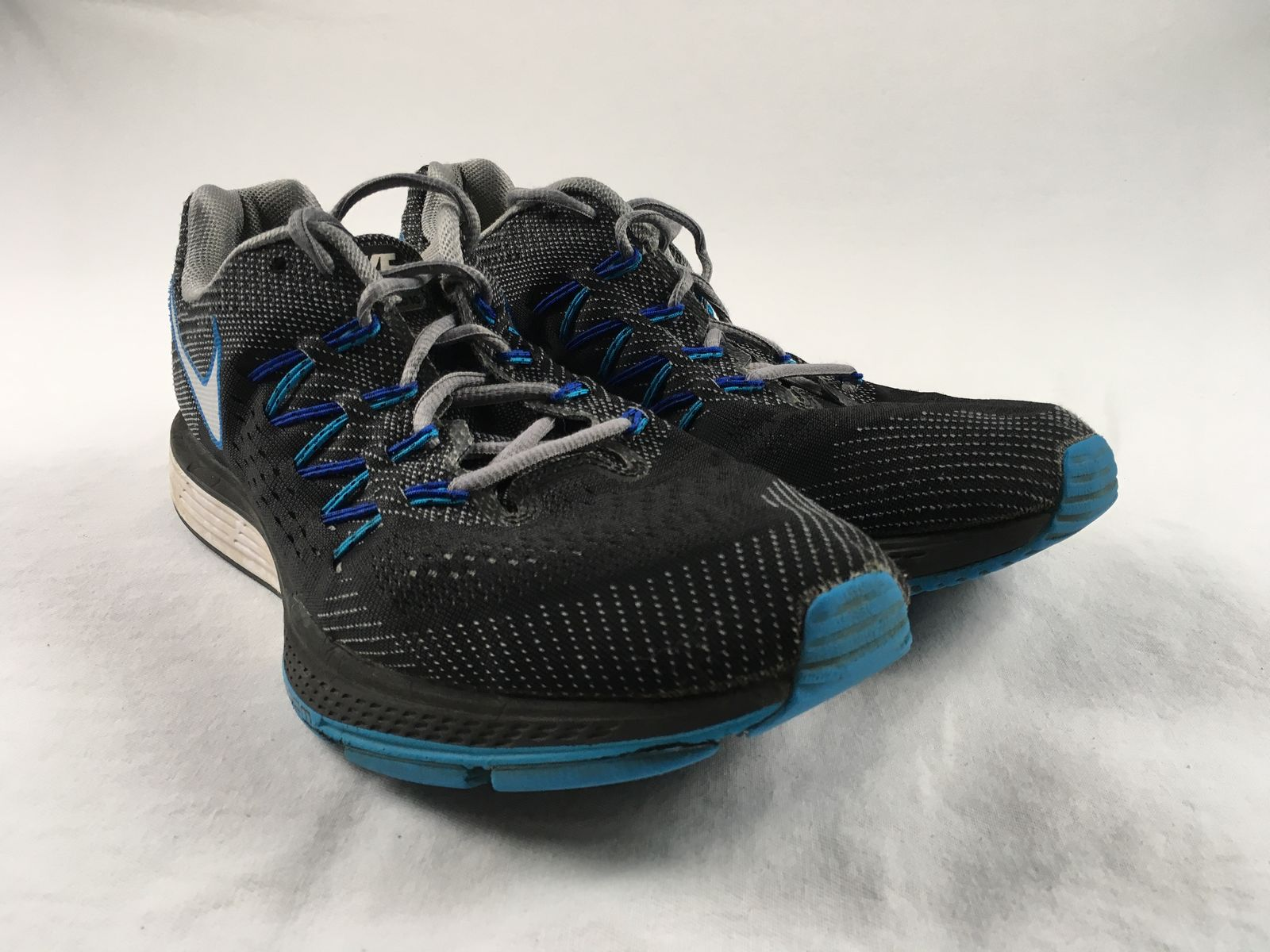 info for d73ed 44ed9 Details about Nike Zoom Vomero 10 - Black Blue Running, Cross Training  (Men s 10) - Used