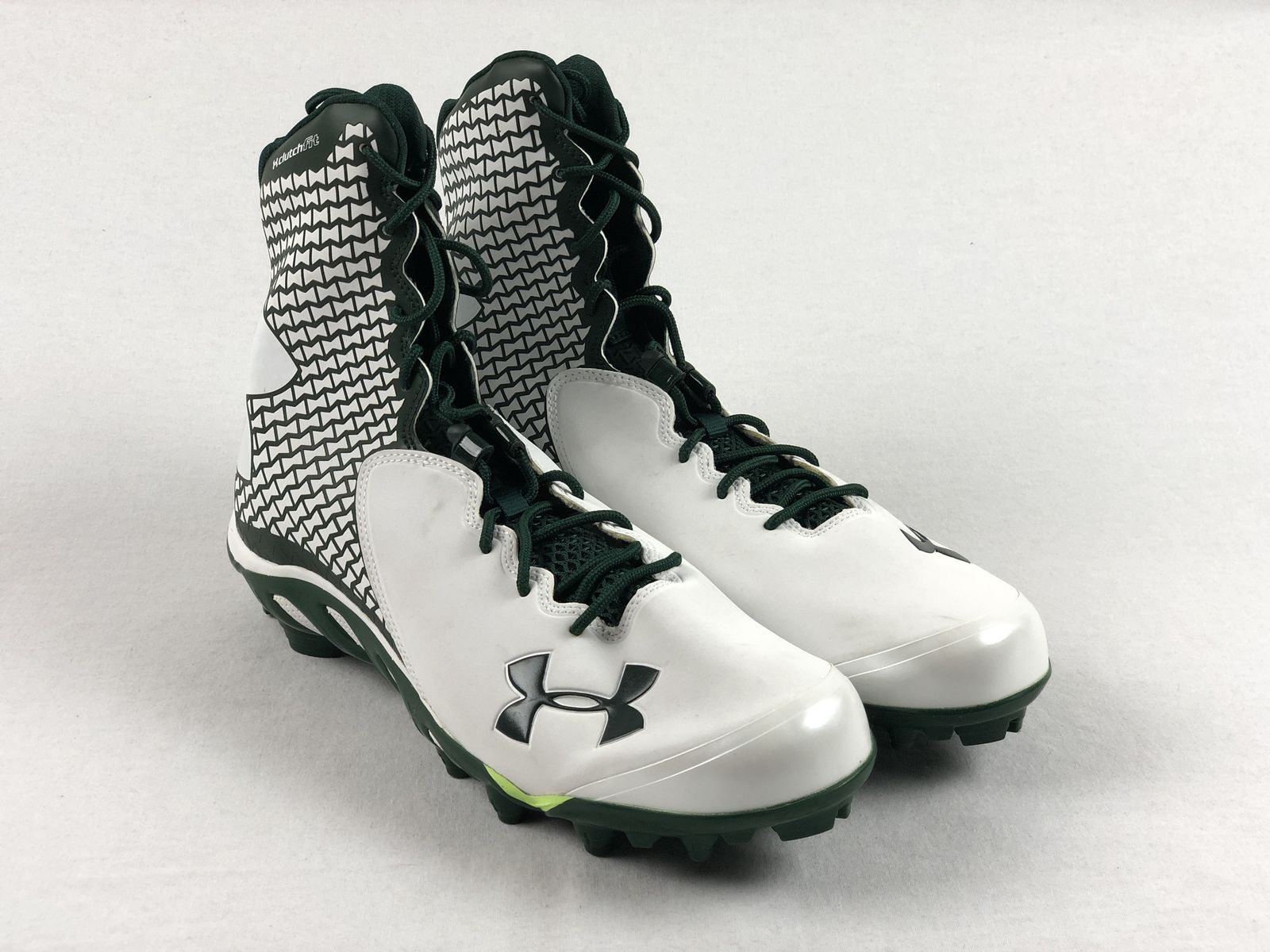 NEW Under Armour Nitro Clutch Fit White//Black Cleats Men/'s Multiple Sizes